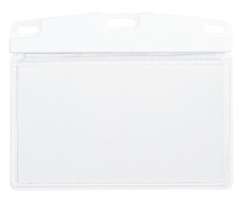 名札用ケース リバーシブルスタイル ソフトヨコ名刺 10枚入 NX-100-WH