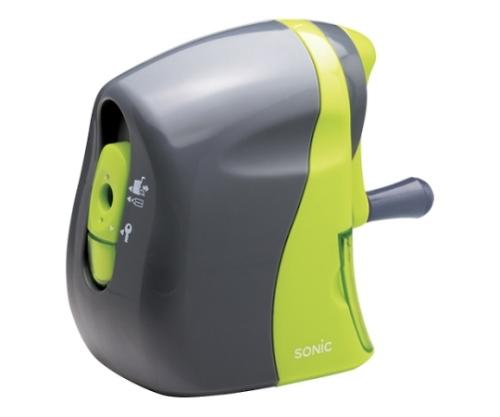 かるハーフ 手動鉛筆削り 灰/緑 SK-802-GL