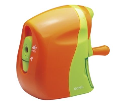 かるハーフ 手動鉛筆削り 橙/緑 SK-802-OR