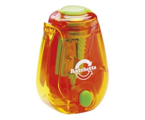 ラチェッタ ハンディ鉛筆削り お知らせ機能付 オレンジ
