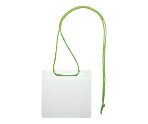 吊り下げ名札 イベント用 紐:緑 VN-343-G