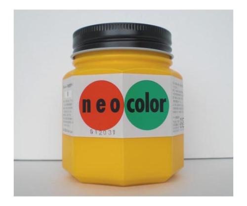 ネオカラー 250ml瓶入(インク色:黄) 250mlビンイリ・イッパンヨウ