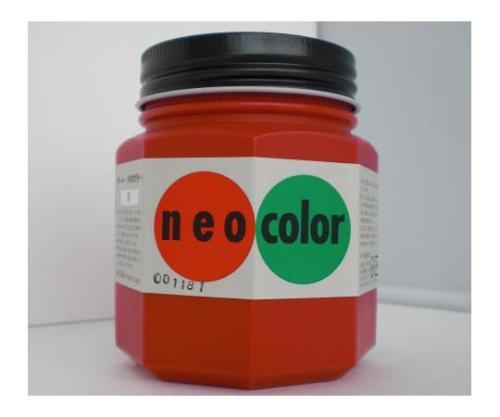 ネオカラー 250ml瓶入(インク色:赤) 250mlビンイリ・イッパンヨウ