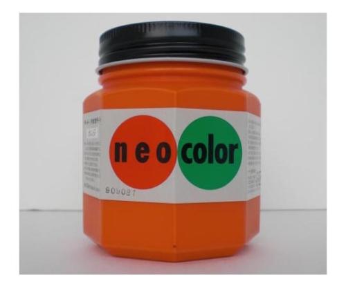 ネオカラー 250ml瓶入(インク色:オレンジ) 250mlビンイリ・イッパンヨウ
