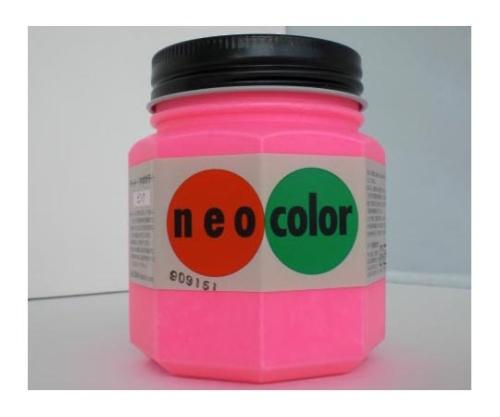 ネオカラー 250ml瓶入(インク色:ピンク) 250mlビンイリ・イッパンヨウ