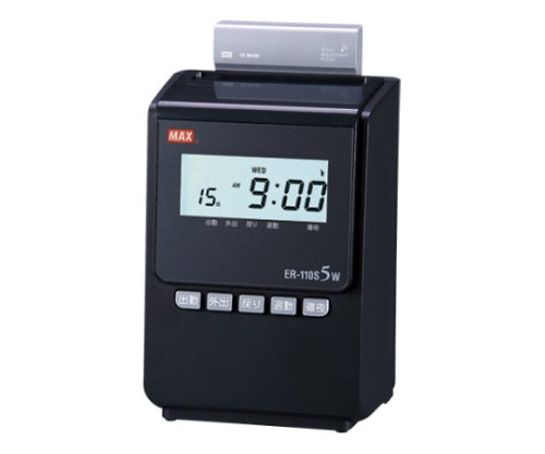 電子タイムレコーダ ブラック ER-110S5W