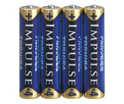 アルカリ乾電池 インパルス シュリンクパック 単4形 4本入 LR03H 4KP