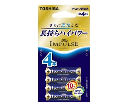 アルカリ乾電池 ザ・インパルス エコパッケージ 単4形 4本入