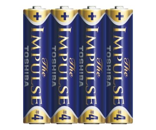アルカリ乾電池 ザ・インパルス シュリンクパック 単4形 4本入 LR03HS 4KP