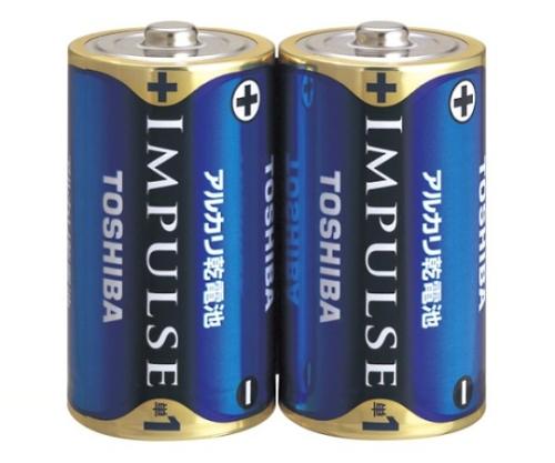 アルカリ乾電池 インパルス シュリンクパック 単1形 2本入
