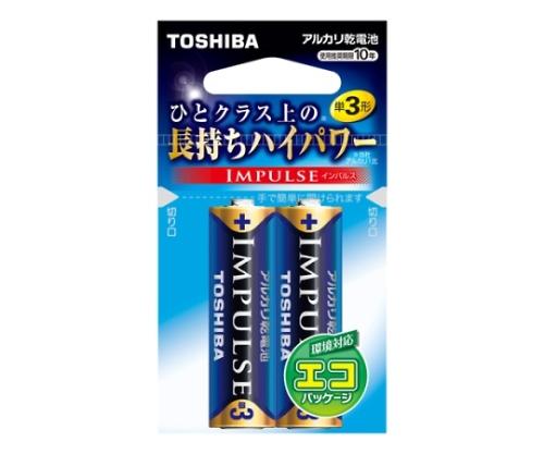 アルカリ乾電池 インパルス エコパッケージ 単3形 2本入 LR6H 2EC