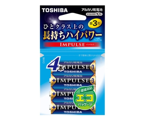 アルカリ乾電池 インパルス エコパッケージ 単3形 4本入 LR6H 4EC