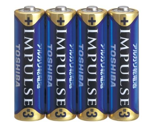 [取扱停止]アルカリ乾電池 インパルス シュリンクパック 単3形 4本入 LR6H 4KP