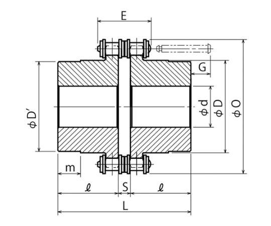 カップリングスプロケットホンタイ 使用チェーンピッチ12.7mm 4014H