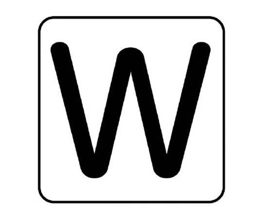 配管ステッカー W