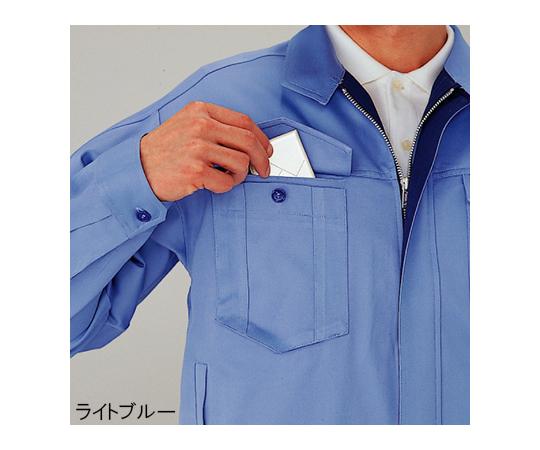 綿100%ブルゾン ライトブルー 4L