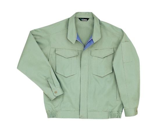 綿100%ブルゾン ライトグリーン 4L