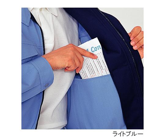 帯電防止 男女共用E/Cブルゾン シルバーグレー 4L
