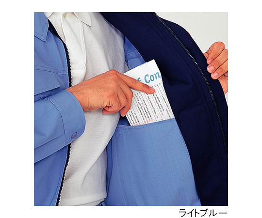 帯電防止 男女共用E/Cブルゾン ネイビー L G347-UE-L