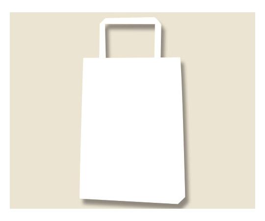 HEIKO 紙袋 H25チャームバッグ 18-3(平手) 白無地 50枚 003275110