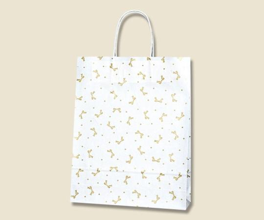 HEIKO 紙袋 25チャームバッグ ニューリボン 金 50枚