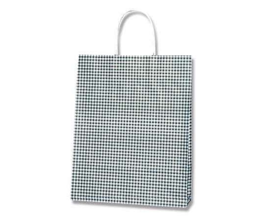 [取扱停止]HEIKO 紙袋 25チャームバッグ 25CB MS1 ギンガムミニ 黒 50枚 003276111
