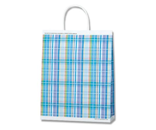 [取扱停止]HEIKO 紙袋 25チャームバッグ 25CB MS1 マドラスチェック B 50枚 003276841