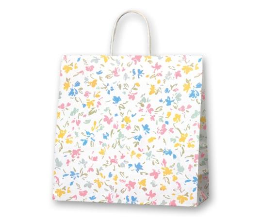 HEIKO 紙袋 25チャームバッグ ペールフラワー 50枚