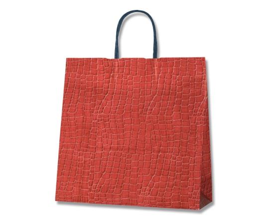 [取扱停止]HEIKO 紙袋 25チャームバッグ 3才 レザー レッド 50枚 003261490