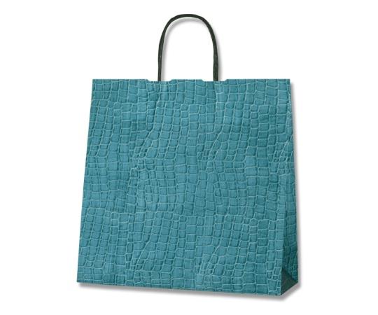 [取扱停止]HEIKO 紙袋 25チャームバッグ 3才 レザー ブルー 50枚 003261491