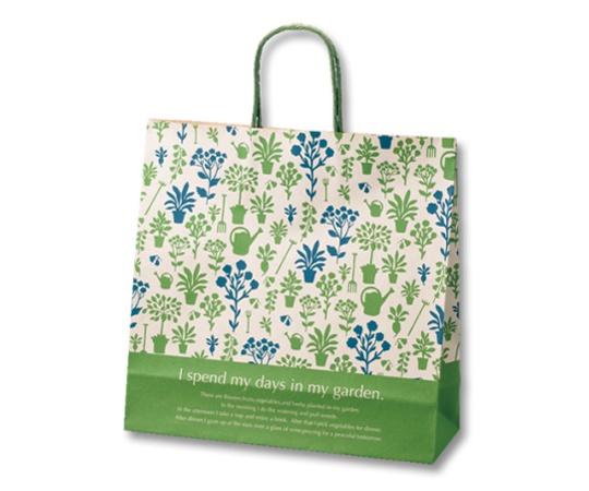 [取扱停止]HEIKO 紙袋 25チャームバッグ 25CB 3才 ガーデンライフ G 50枚 003261430