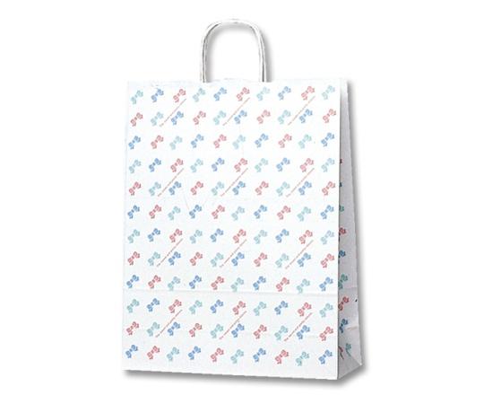[取扱停止]HEIKO 紙袋 25チャームバッグ 25CB 2才 カラフルリボン 50枚 003233100