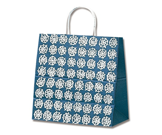 HEIKO 紙袋 25チャームバッグ 25CB W 和風 紺 50枚 003270300