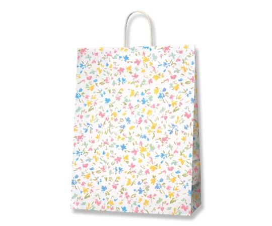 HEIKO 紙袋 25チャームバッグ 25CB カスタムB ペールフラワー 50枚 003281800