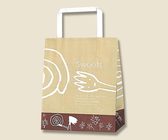 HEIKO 紙袋 H25チャームバッグ 18-1(平手) カフェ 50枚 003274110