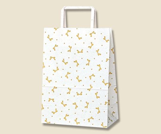 [取扱停止]HEIKO 紙袋 H25チャームバッグ S1(平手) ニューリボン 金 50枚 003262800