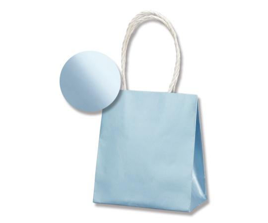 HEIKO 紙袋 スムースバッグ(無地) 15-08 パールカラー ライトブルー 10枚 003138556