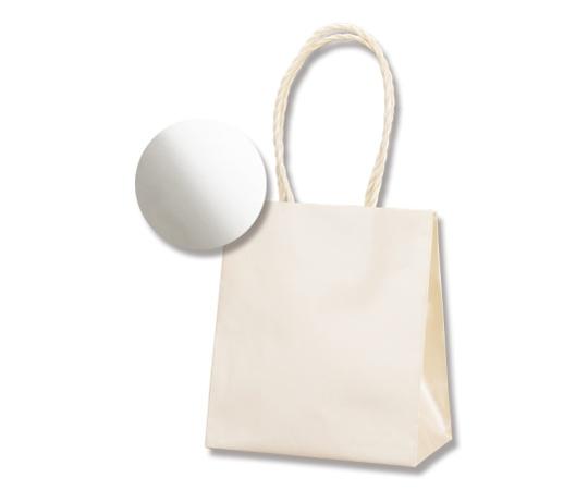 HEIKO 紙袋 スムースバッグ(無地) 15-08 パールカラー ホワイト 10枚 003138558
