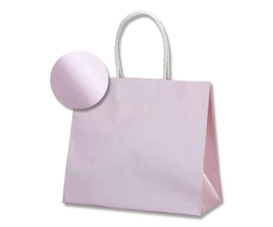 [取扱停止]HEIKO 紙袋 スムースバッグ(無地) 24-11 パールカラー ライトピンク 10枚 003158609