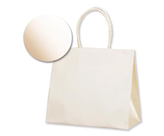 [取扱停止]HEIKO 紙袋 スムースバッグ(無地) 24-11 パールカラー ホワイト 10枚 003158610