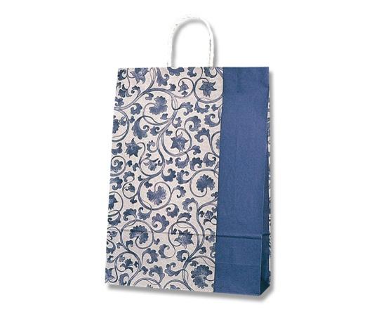 HEIKO 紙袋 スムースバッグ 2才 藍染 25枚 003157510