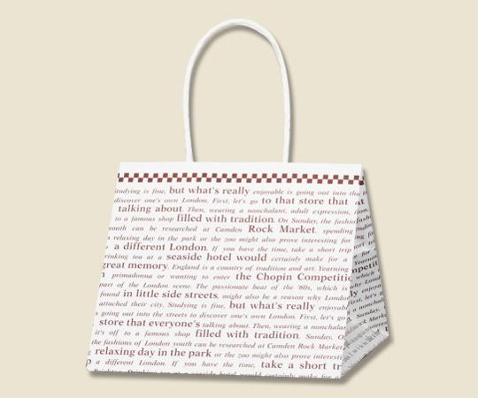 [取扱停止]HEIKO 紙袋 Pスムース 22-22 チェッカー茶 25枚 003154210
