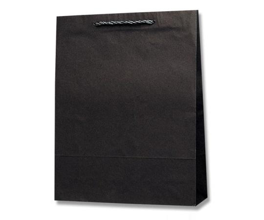 HEIKO 紙袋 T型チャームバッグ カスタム判 黒無地 50枚 003170500