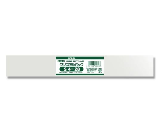 HEIKO OPP袋 クリスタルパック S4-28 (サイドシール) 100枚 006750300