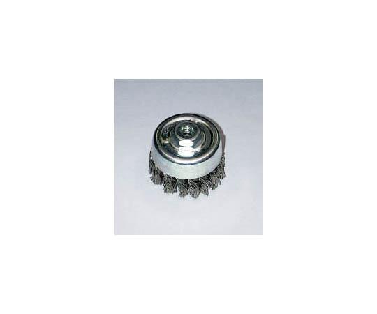 ヒネリカップ型軸付ブラシ ステンレス 75xM10xP1.5 SUS
