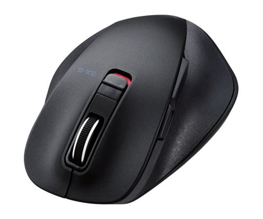BlueLEDマウス/握りの極み/Mサイズ/Bluetooth/5ボタン/ブラック