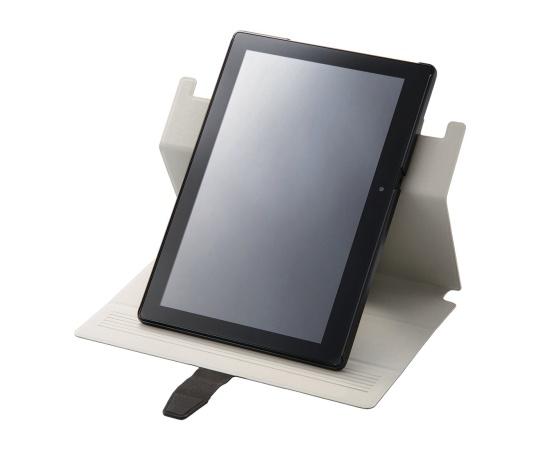 [取扱停止]NEC LAVIE Tab E PC-TE510BAL用薄型フラップカバー ブラック TB-NEE1BAWVSMBK