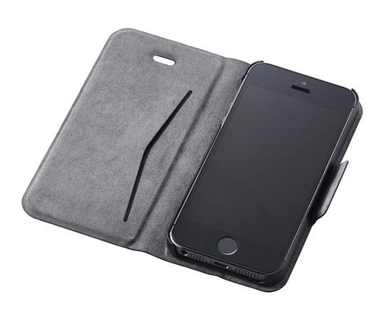 [取扱停止]iPhone SE 5 5s用レザーカバー 薄型(磁石付) ブルー PM-A16SPLFUMBU
