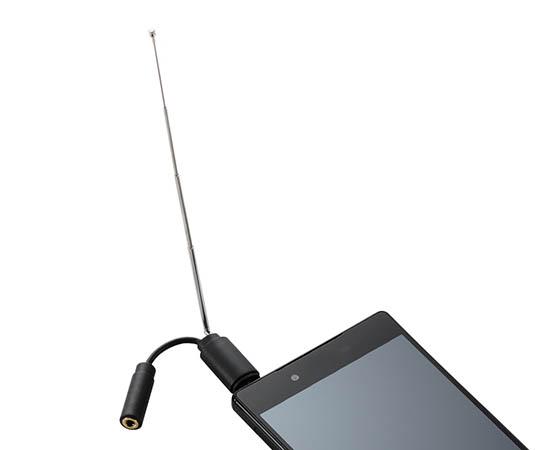 スマートフォン用テレビアンテナ(ロッドアンテナ) MPA-35ATRBK