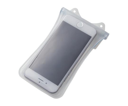 [取扱停止]スマートフォン用防水・防塵ケース(水没防止タイプ) 4.7インチ以下 ホワイト P-01WPS2WH